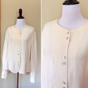 Vintage NWT silk Via Seta Loehmann's blouse